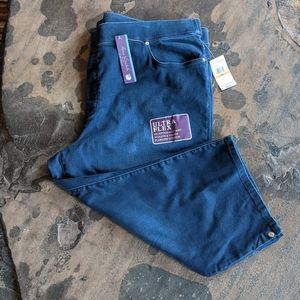 Gloria Vanderbilt Capri Pull On Jeans Sz 24W NWT